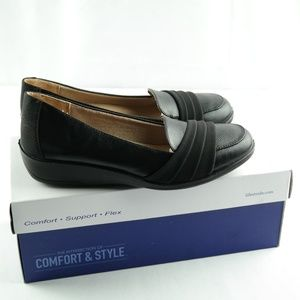 Life Stride Imperia Flats Sz 7 Black Loafers